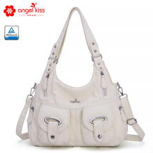 Angel Kiss Casual Women Shoulder Bags Elegant PU Big Capacity Super Soft Leather Handbags J1067