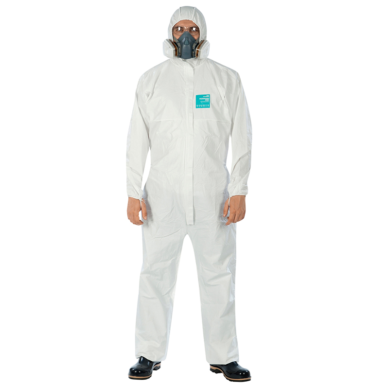 EN14126 Type 5 Type 6 Disposable Coverall Protective Clothing Dustproof And Antistatic Laboratory Personal Anti-virus Suit