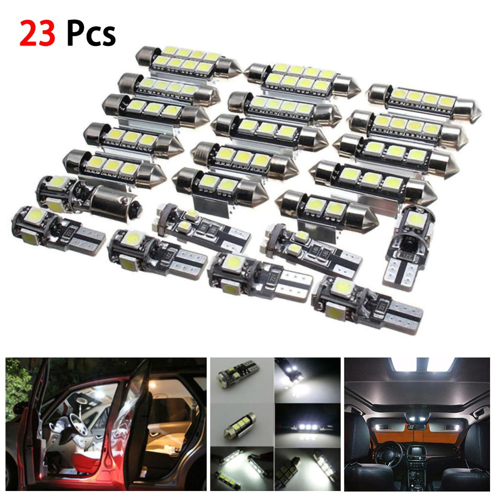 Factory Price 23Pcs Car LED Interior Lights Lamp Bulbs Kit Set For BMW X5 E53 2000-2006 White Wholesale Quick Delivery CSV