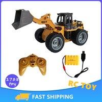HUINA 1:16 RC camion Bulldozer pala pala caricatore trattore modello ingegneria auto 9 canali auto radiocomandate giocattoli per ragazzi