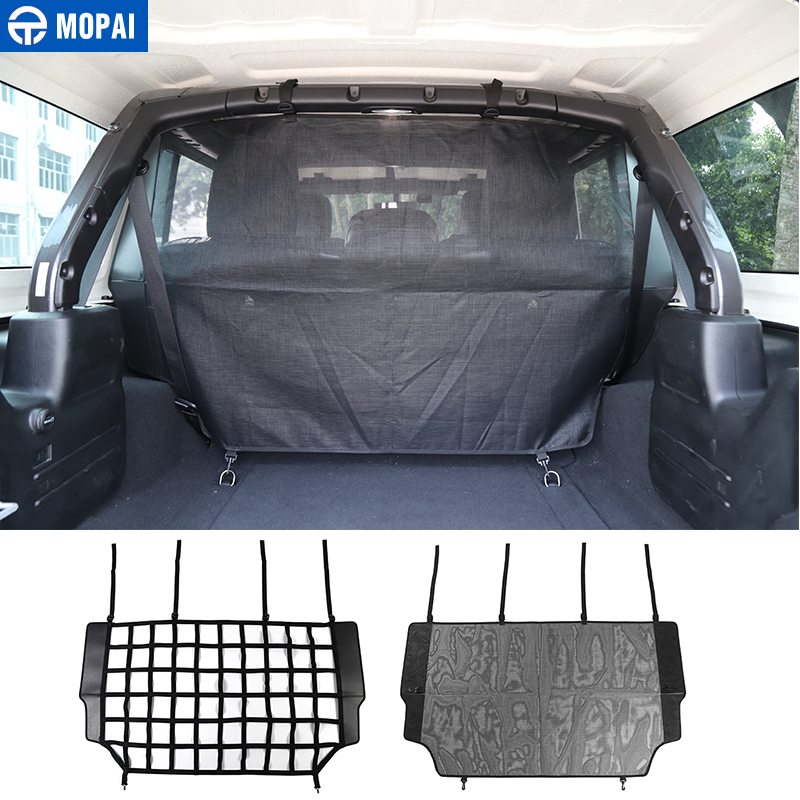 MOPAI Car Boot Pet Separation Net Fence Safety Barrier For Car Trunk Cargo Safety Net Accesories For Jeep Wrangler JL 2018+