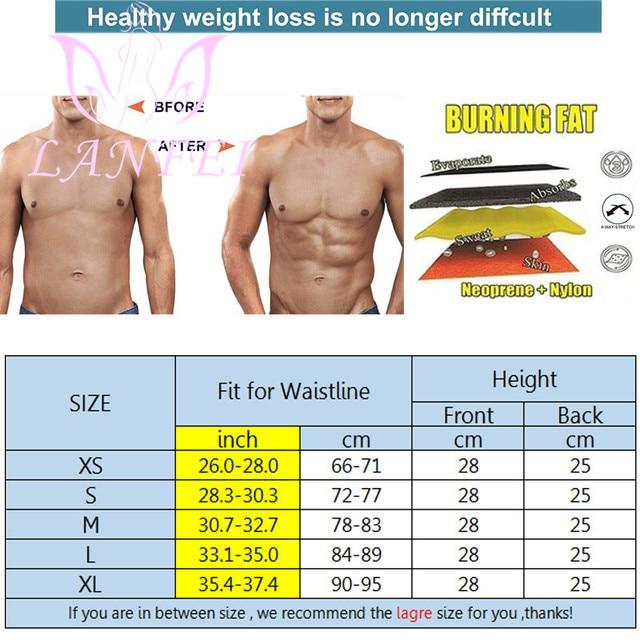 LANFEI Men Hot Neoprene Waist Trainer Trimmer Belt Workout Fitness Slimming Corset Shapwear Sauna Sweat Body Shaper Strap Girdle 5