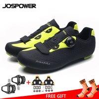 JOSPOWER MTB Road Radfahren Schuhe TPU Tragen Wider Atmungs Fahrrad Schuhe Auto Locking Sportlich Fahrrad Schuhe-in Fahrradschuhe aus Sport und Unterhaltung bei
