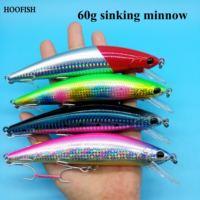 HOOFISH 2 teile/los 60g Sinking minnow angeln locken 140mm/8 farben 3D augen Bass Angeln Lockt Künstliche pesca Swimbait-in Angelköder aus Sport und Unterhaltung bei