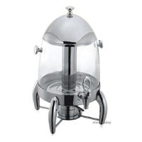 12l 투명 주스 삼각대 음료 따뜻한 스테인레스 스틸 유지 뜨거운/차가운 커피 디스펜서 10-12 p 상업 음료 컨테이너 1 pc