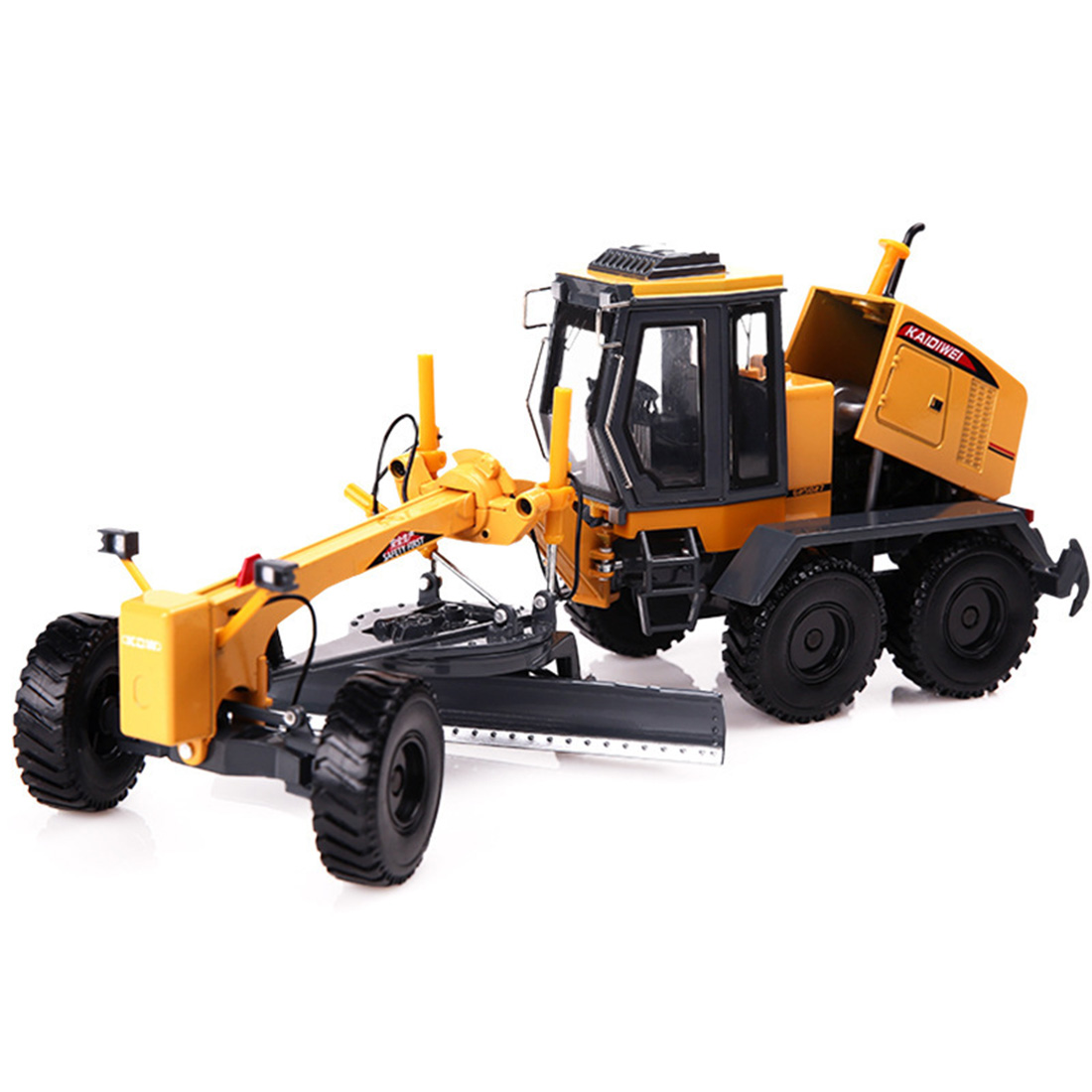 1:35 Alloy Engineering Vehicle <font><b>Model</b></font> Simulation Truck Grader Toy <font><b>Model</b></font> <font><b>Building</b></font> <font><b>Kits</b></font> - Yellow image