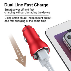 Image 2 - 6A Car Charger QC3.0 4.0 Digital LED Display Fast Charging For iphone 12 8 Plus Samsung Huawei GSY Aluminum Car charger Adapter