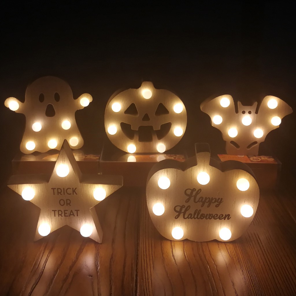 Halloween Light Up Hanging Decoration Ghost LED Magnet Prop Children Kids Party