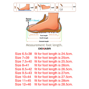 Image 5 - DEKABR New Summer Mens Shoes Outdoor Casual Shoes Sandals Genuine Leather Non slip Sneakers Hihg Quality Men Beach Sandals