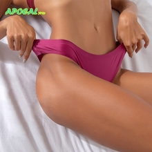 APOCAL Ice Silk Tanga Women Panties Female Underwear Thongs and G strings Seamless Cotton sexy femme erotique Lingerie