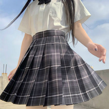Gonne donna a pieghe nere moda stile giapponese Kawaii uniforme scolastica vestiti per ragazze Plaid Sweetown Mini gonna Sexy a vita alta