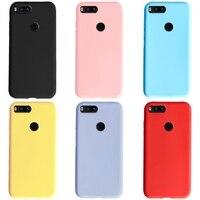 Für Xiaomi Mi 5x Fall Silicon Weiche Matte TPU Telefon Fall Zurück Abdeckung Für Xiaomi Mi 5X A1 Fällen Bumper coque Funda
