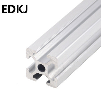 100-800MM  2020  aluminum profile extrusion  linear rail automatic equipment framework DIY 3D printer workbench CNC transkoot 20pcs aluminum gusset plate angle 1515 bracket for aluminum extrusion profile 1515 series for 3d printer
