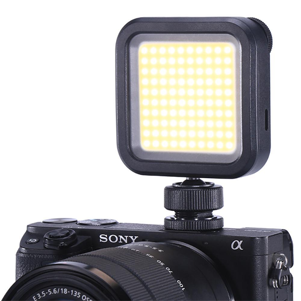 VL100 Карманный на камеру светодиодный свет видео COB Встроенный литиевый аккумулятор регулируемое фотографическое освещение для sony Nikon DSLR