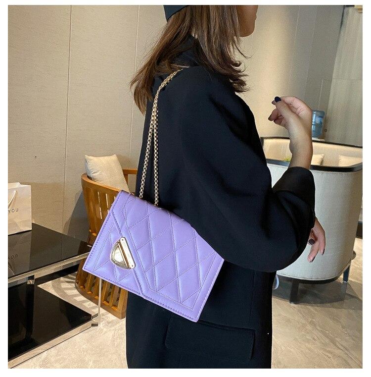 feminina moda luxo couro mensageiro saco
