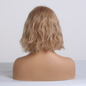 Image 2 - EASIHAIR Short Blonde Wave Synthetic Wigs for Women Bob Wigs with Bangs Heat Resistant Natural Wavy Cosplay Wigs Bob Wig