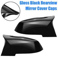1pair Gloss Black ABS Plastic Side Rearview Mirror Cover Universal For BMW F20 F21 F22 F30 F32 F36 X1 F87 M3