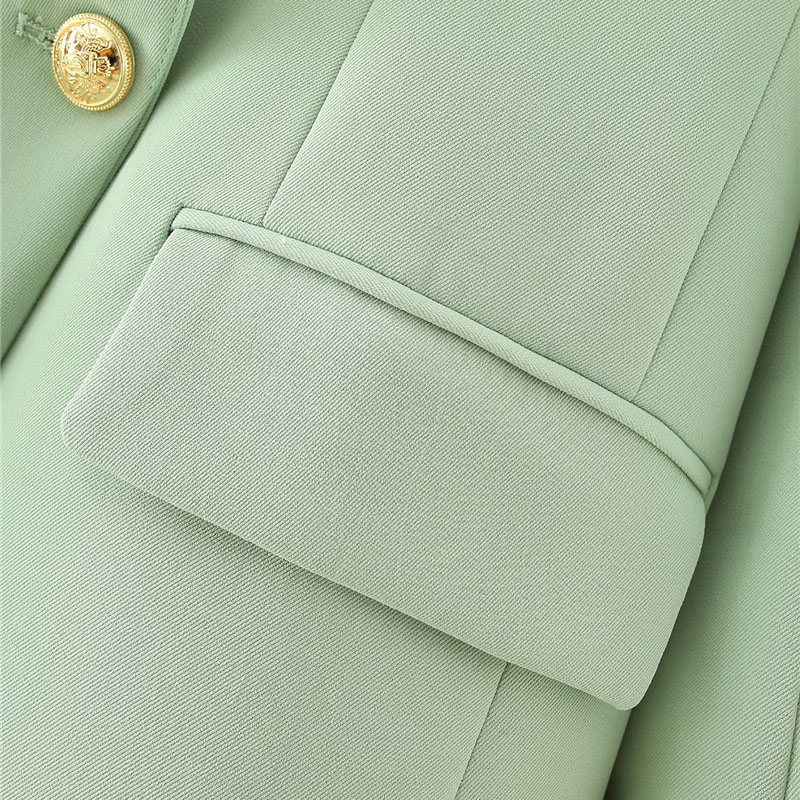 breasted blazer casaco vintage bolsos de manga