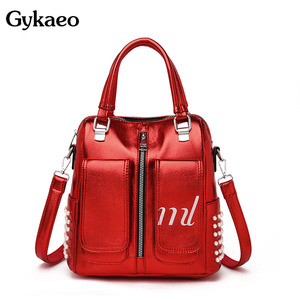 Image 1 - Gykaeo Luxury Handbags Women Bags Designer Candy Colors Tote Bag Ladies Street Fashion Beading Shoulder Bags for Women Handbag