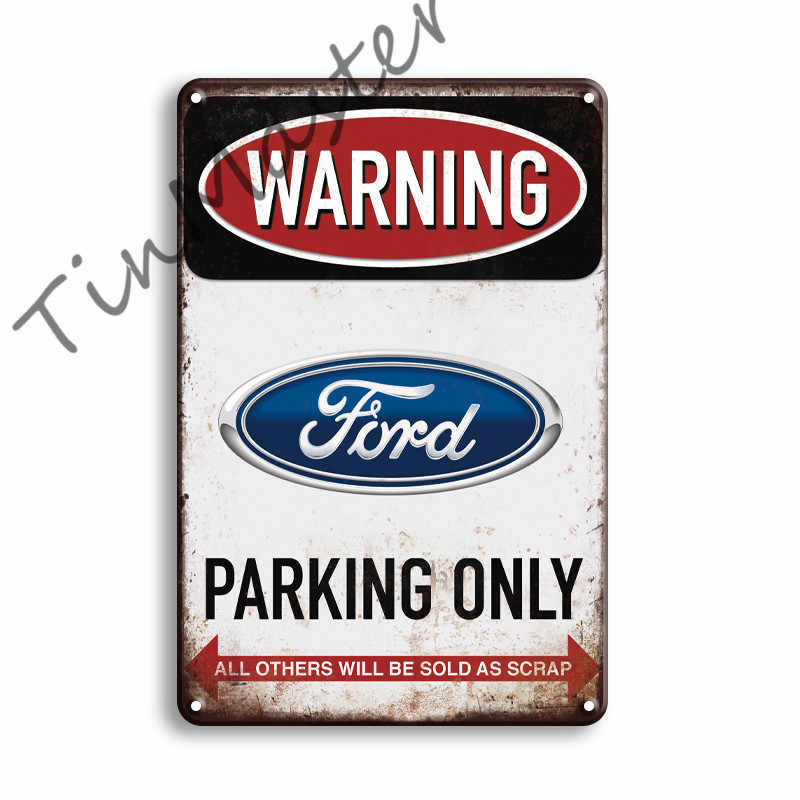 None Brand Metal Sign Ford F150 parking ONLY Vintage Look
