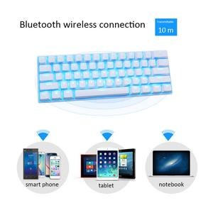 RK61 Wireless Mechanical Keyboard With LED Illuminated Keyboard Anti-skid Gaming Keyboards For PC Tablet Accessories(China)