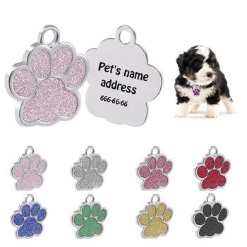 Metalowy Tag dla zwierząt domowych Alloy Identity Tag niestandardowy brokat grawerowanie nieśmiertelnik tanie i dobre opinie Znaczniki id CN (pochodzenie) Wszystkie pory roku Drukuj Spersonalizowane Pet ID Tags Custom text content dog collar accessories