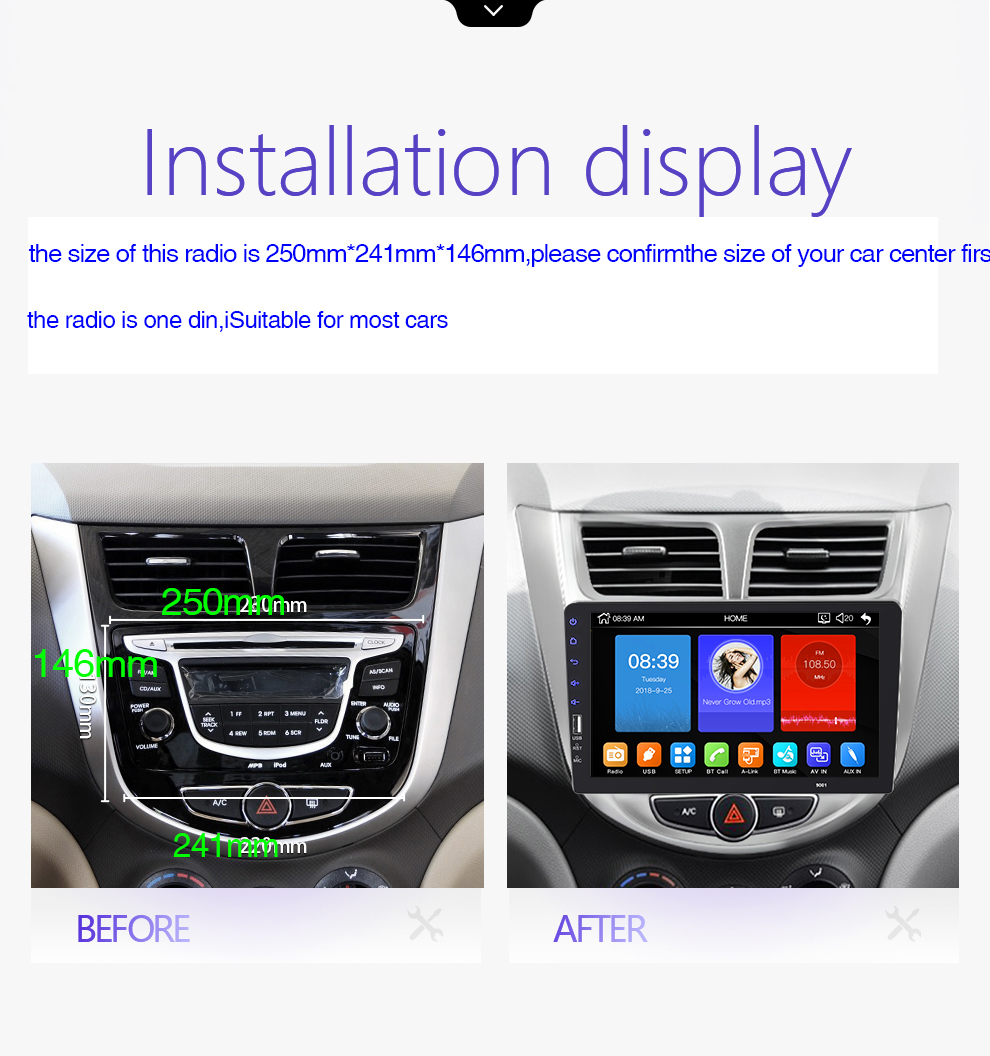 9''10. 1 zoll auto multimedia player 1 din auto radio Bluetooth USB reverse kamera MP5 Player Autoradio KEINE android - 2