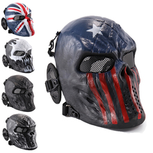 Halloween Airsoft Masks Tactical Wargame CS Paintball Skull Head Party Bike Cycling Full Face Masks for Outdoor Hunting Dominoes
