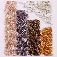 300 шт., размер 2x6 мм, твист, бирюзовый, свободный стеклянный разделитель для семян, фототкань, детская одежда