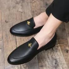 2020 homem sapatos casuais moda sapatos de couro homens negócios escritório sapatos de casamento sapatos de condução masculino penny mocassins tamanho grande 38-46