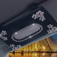 Crystal-Tissue-Box Interior-Accessories Sunvisor-Type Car New 1 Chrysanthemum CAE