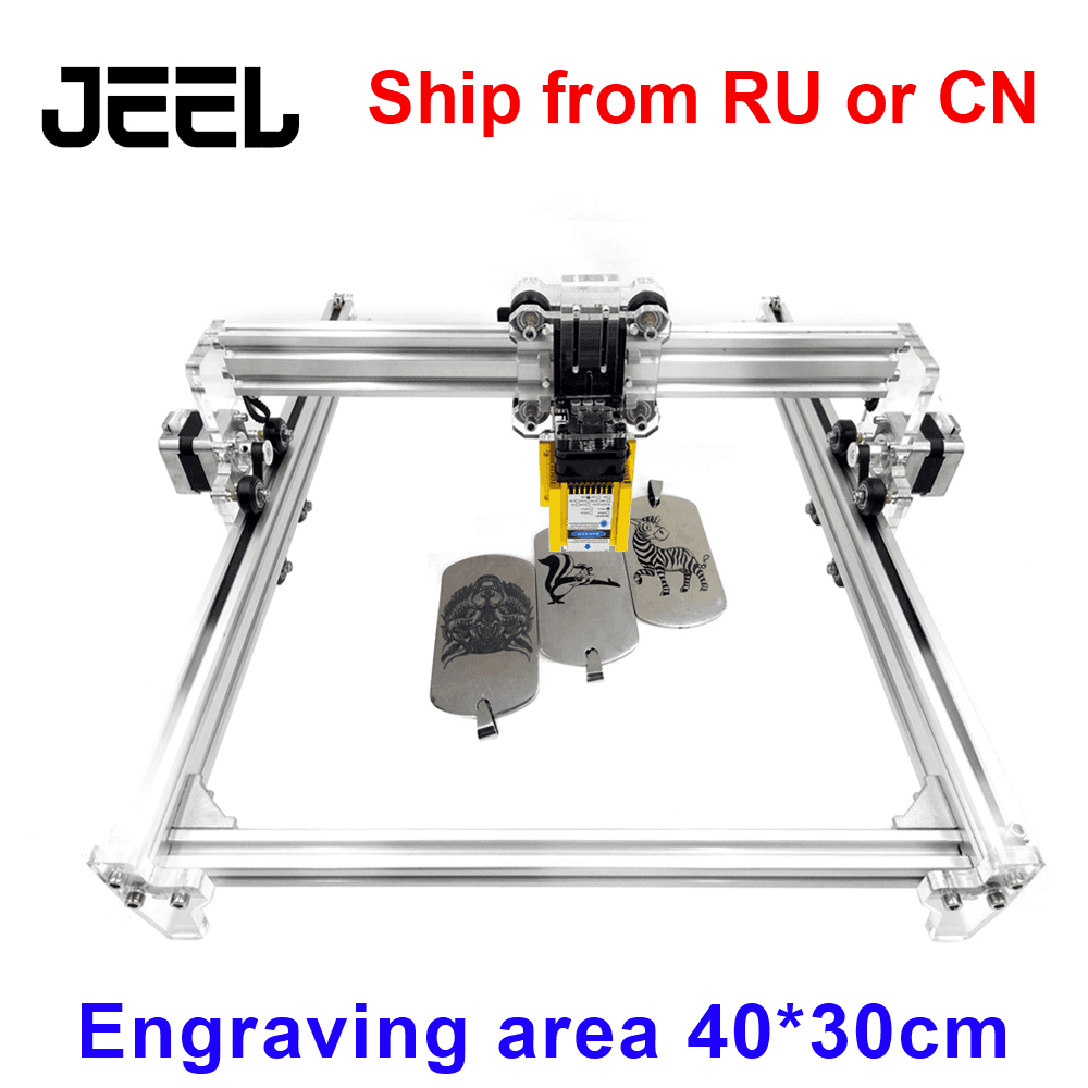 2500MW 5.5W 15000MW  GRBL CNC Laser Engraving Machine 30*40cm Working Area Wood Router Laser Cutter /Printer/+Laser Glasses