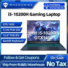 Machenike T58 Gaming Laptop Core i5 10200H GTX 1650 Latptops 8G RAM 512G SSD 15 6   IPS Ultra Border Backlit Keyboard