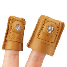 1pcs M/L Size Soft Accessory Quilting Artificial Sheepskin Thimble Knitting Tool Fittings Cowhide Thimble Sewing Tool
