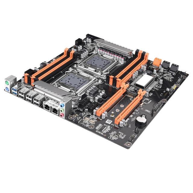 JINGSHA X79 double ensemble de carte mère CPU avec 2 × Xeon E5 2690 huit cœurs et 8 × 8GB = 64GB 1600MHz DDR3 ECC REG mémoire et ventilateur cpu
