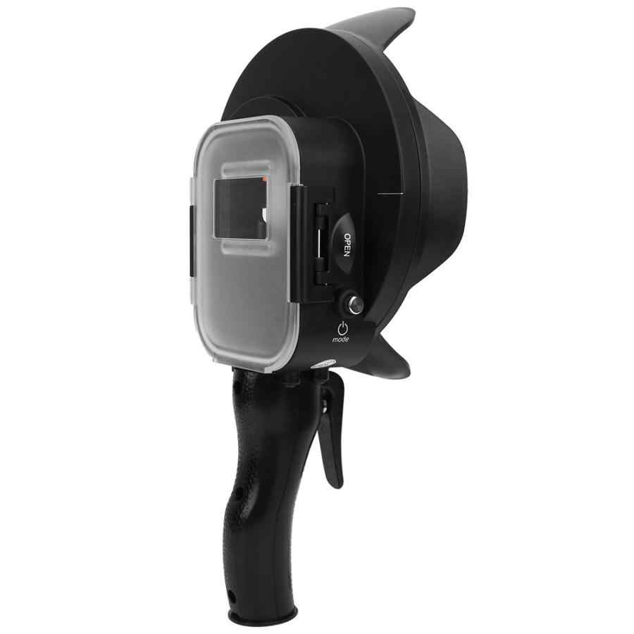 Menembak Underwater Dome Port untuk GOPRO HERO 7 6 5 Hitam dengan Float Grip Tahan Air Case Kerai Lensa Dome Pergi pro 6 5 7 Aksesori