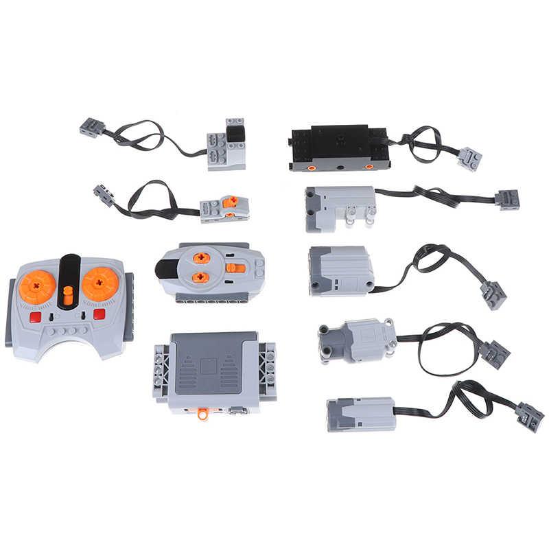 Technic Teile Kompatibel Für Legoeds Multi Power Funktionen Werkzeug Servo Blöcke Zug Elektrische motor Motor PF Modell Setzt Gebäude
