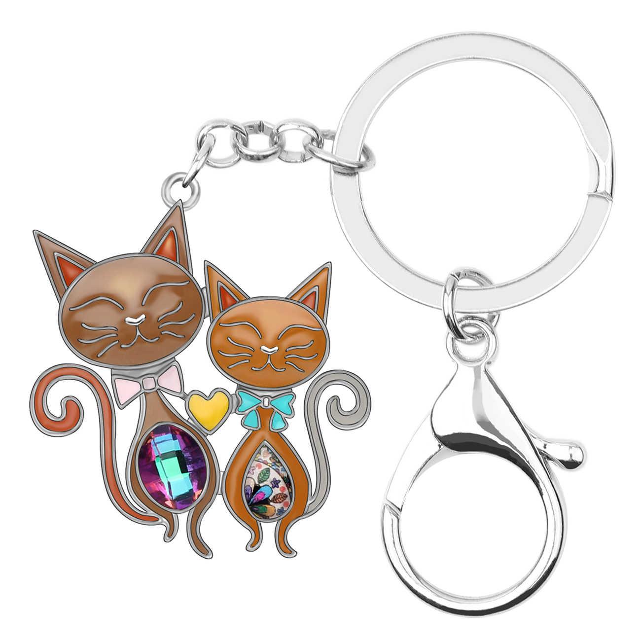 Bonsny Эмаль сплав Бабочка брелки для ключей кольцо для ключей модные ювелирные изделия для женщин девочек Сумочка Подвеска Подвески Украшения