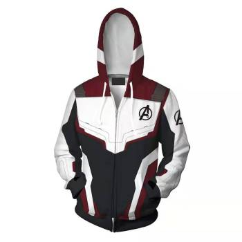 1PC The Avenger Endgame Quantum Realm Hoodie Men Women Zipper Hooded Pullover Coat 3D Printed Sweatshirt Jacket Hot Sale endgame avenger whatever it takes t shirt superheroes