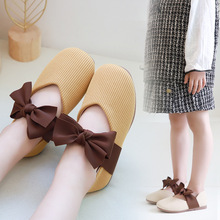 2019 Autumn New Kids Shoes Little Baby Girls Princess Shoes soft-soled bow-knot Girls Flat Shoes Green Beige Yellow 1 2 3 4 5 6T azulejos alcor cannes dec 4 flor new beige 31 6x44 5