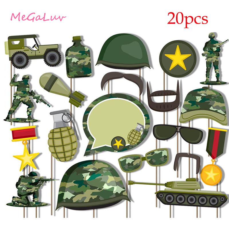 Camouflage Air Force Theme Decoration Army Latex Balloons Fighter Aircraft Foil Ballon Boy Girl Soldier Birthday Party Supplies-4