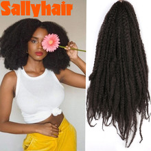 Sallyhair 18 inch Pure Color Marley Braids Hair Crochet Afro Kinky Synthetic Braiding Hair Crochet Braids Hair Extensions bulk cheap High Temperature Fiber CN(Origin) 1strands pack Ombre