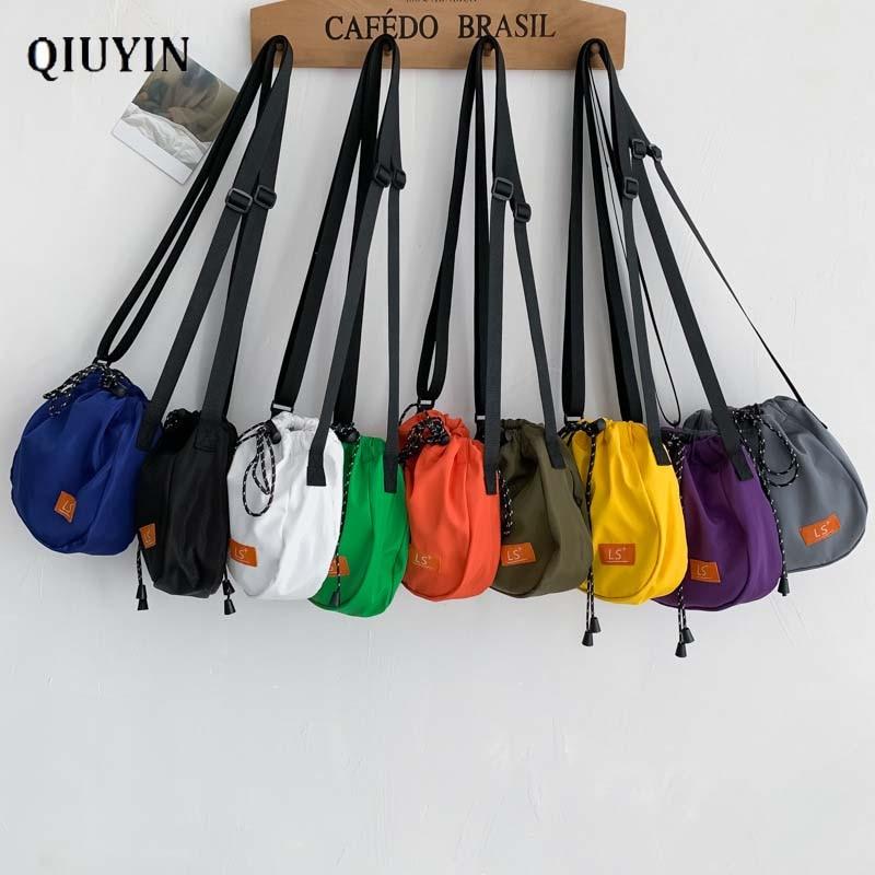 Qiuyin New Chic Bag Women Waist Bag Nylon Oxford Cloth Fanny Pack Waist Belt Backpack Sports Money Unisex Premium Pouch Chest