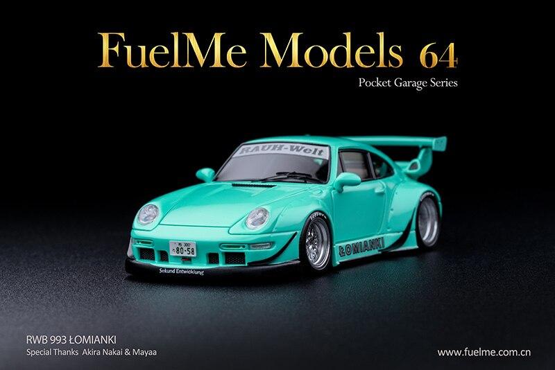FM64002-RWB993-13 fuelme 1:64 rwb 993 resina verde de hortelã