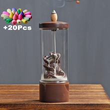 Gift 20Ps Incense Cones Acrylic Windproof Backflow Burner DIY Home Decorations Lucky Ornaments Mini Landscape Flowers