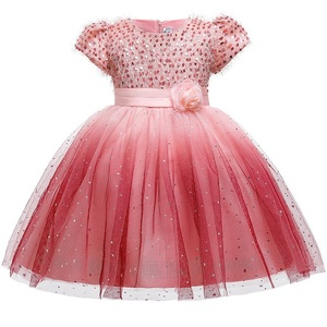 Image 2 - Prinses Meisje Fleet Garen Verjaardag Kinderen Avondjurk Bloem Meisje Gastheer Trouwjurk Piano Prestaties Kostuum