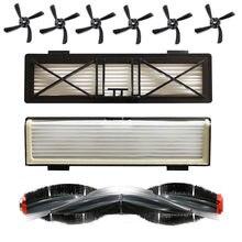 1 conjunto robô vassoura peças inclue escova lateral filtro de rolamento escova para neato d7/d5/d3/d7500/d8500/d robô vassoura máquina #4