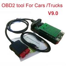 シングルグリーンボード pcb とブルートゥース obd obd2 診断ため delphis autocome vd ds150e 車とトラックスキャナ TCS 送料船