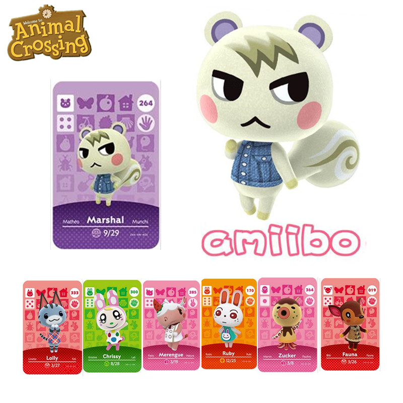 264 Marshal Animal Crossing Game Card Amiibo NFC Card For NS Games Nintendo Switch Series 1 2 3 4 0011 400