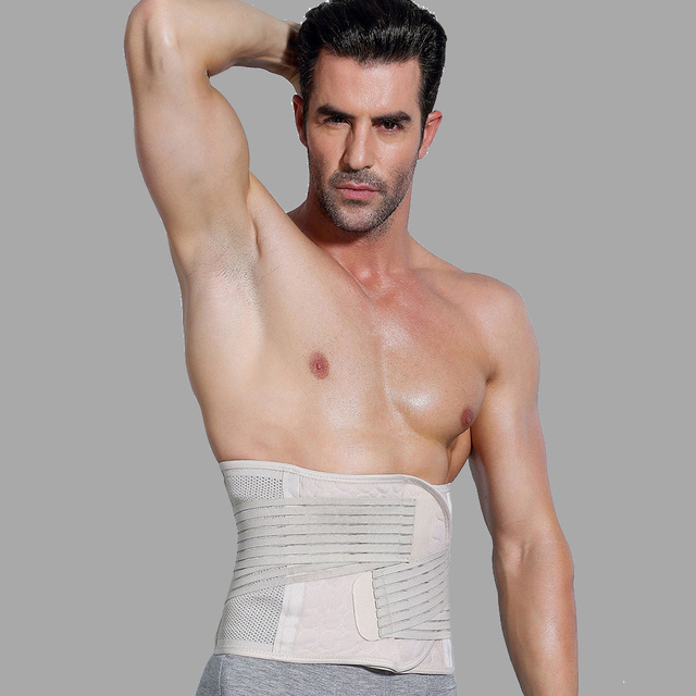 New Men Body Shaper Slimming Belt  Waist Trimmer Belt Corset Belly Fat Tummy Control Stomach Girdle Modeling Belts Waist Trainer 3